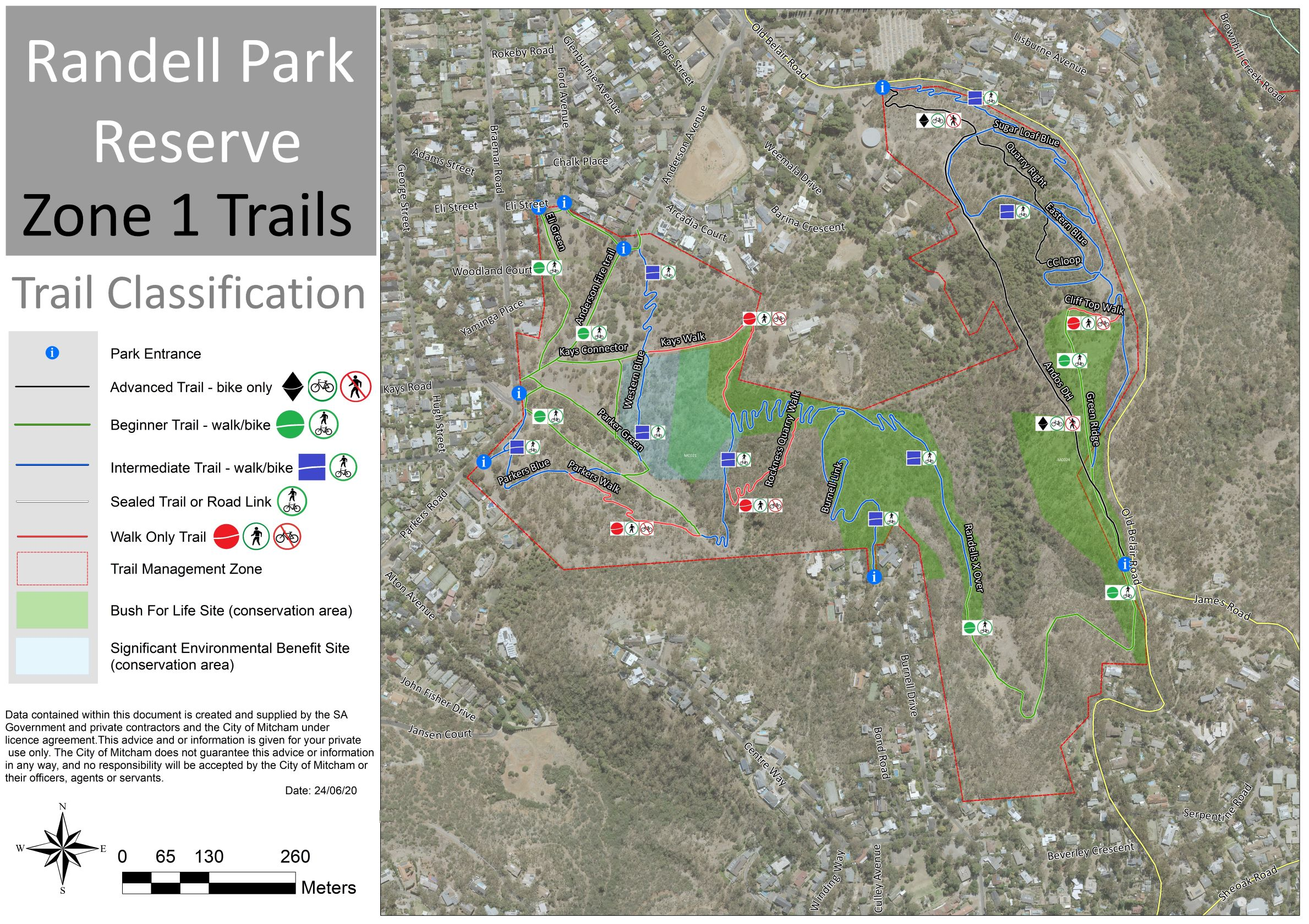 Randell Park Trail Map