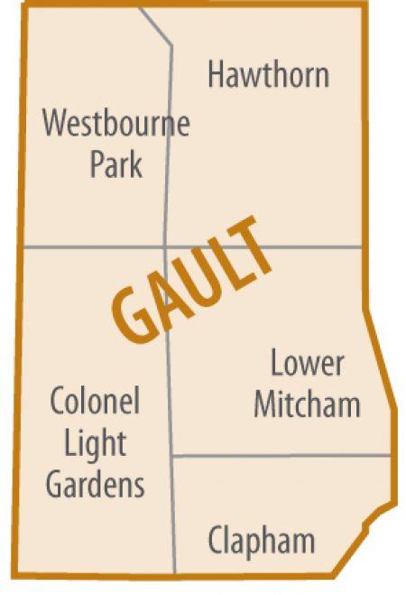 Gault Ward map