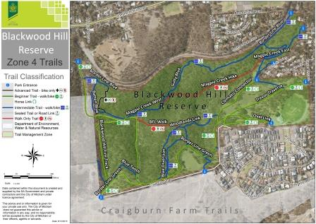 Blackwood Hill Reserve Trails Map