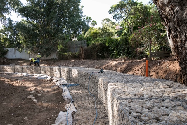 Brownhill Creek Upgrade JWS Morris Gabions January 2019