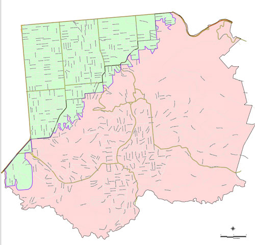 City of Mitcham Higher Fire Risk Area and Safer Work Area Map